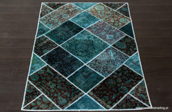 Tabriz-Patchwork- sea-green-140x200cm