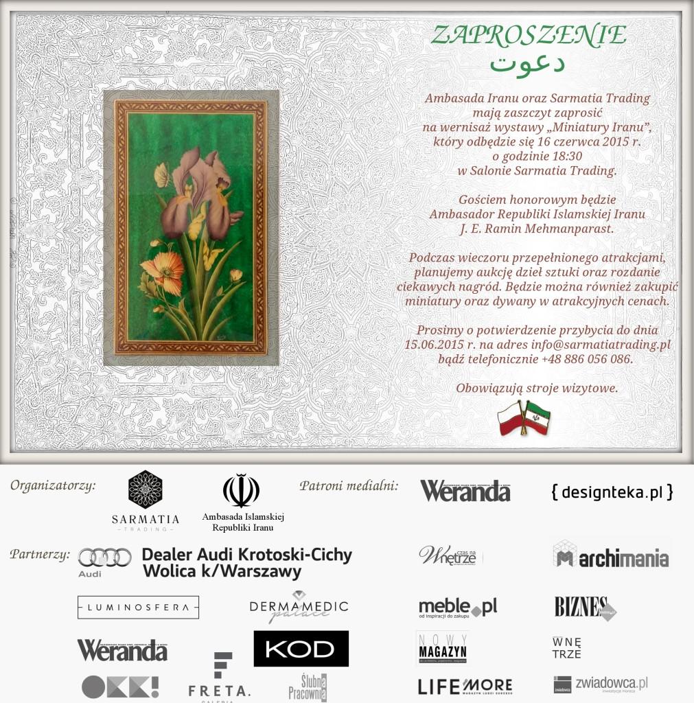 zaproszenie_Miniatury Iranu