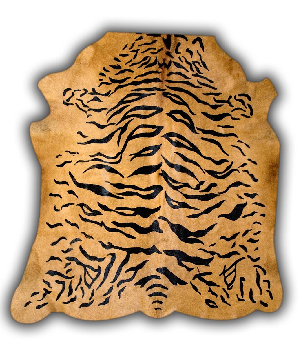 Krowia skóra z motywem tygrysa.