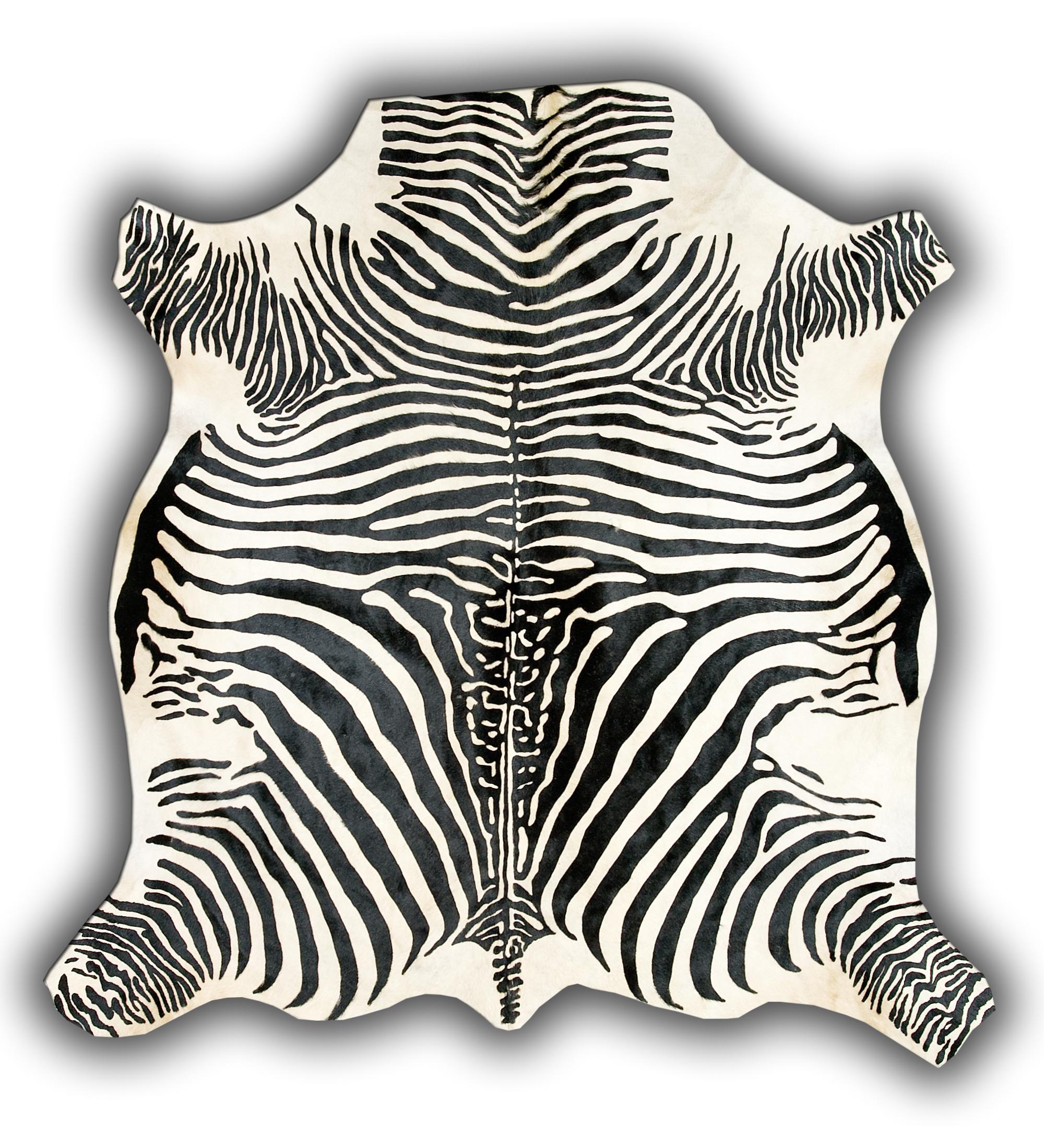 Skóra krowia z motywem zebry.