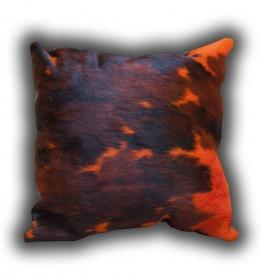 Normand cow dyed orange cushion 45x45