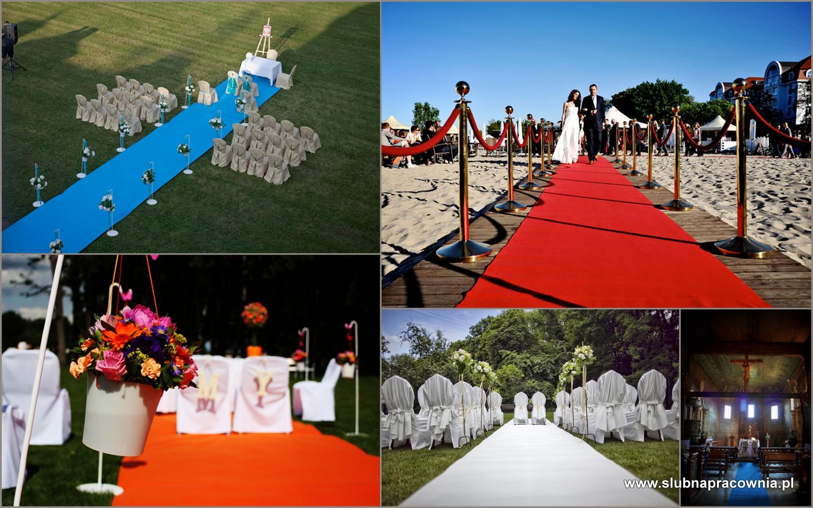 ślub dywan