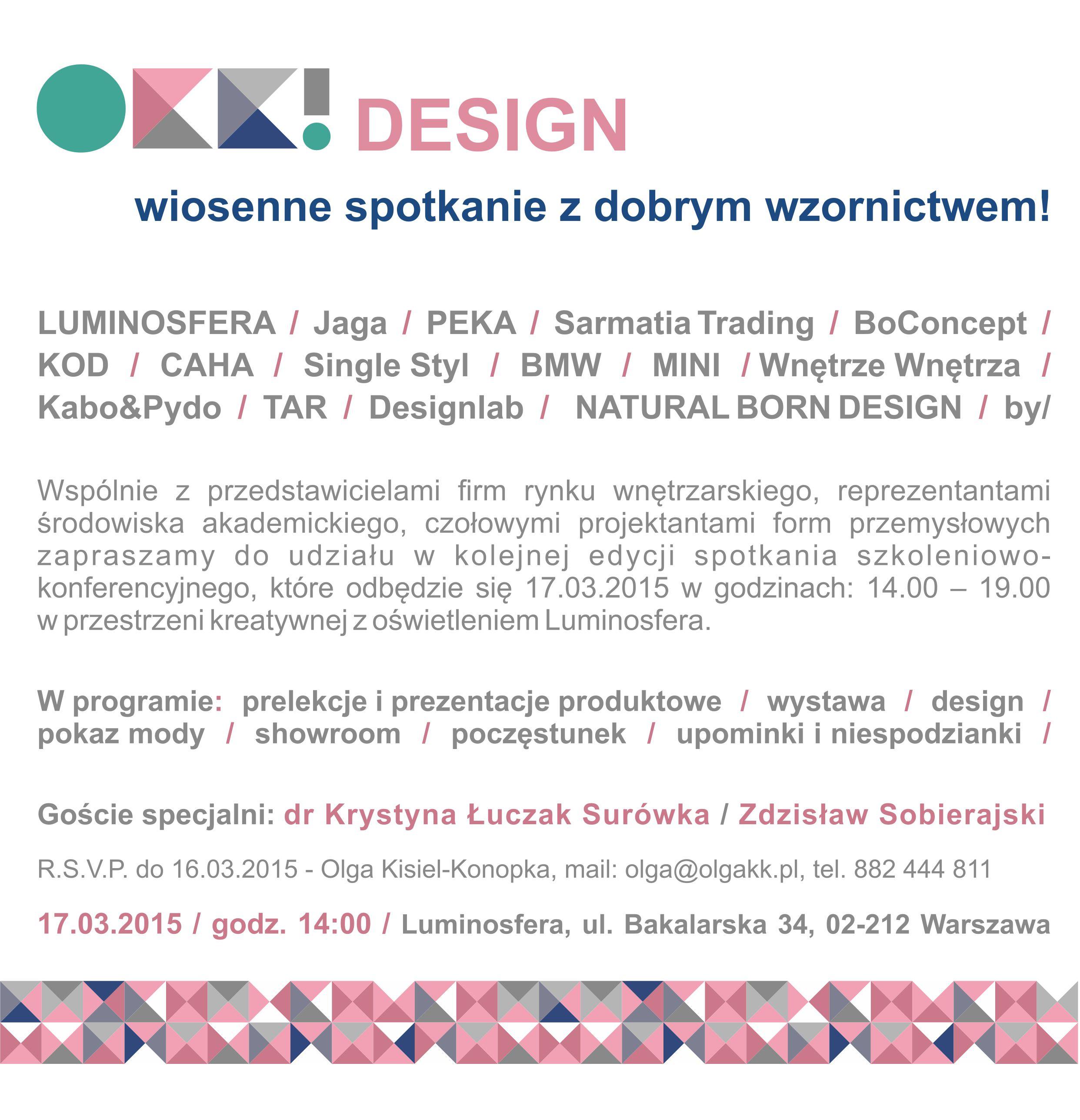OKK! design ZAPROSZENIE