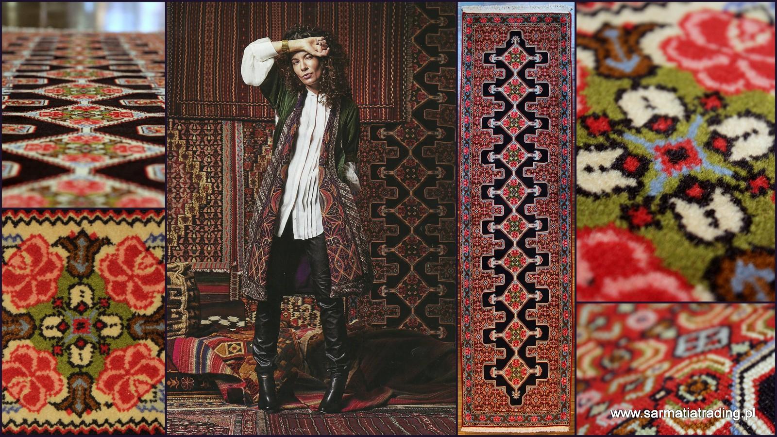 senneh- dywan wełniany
