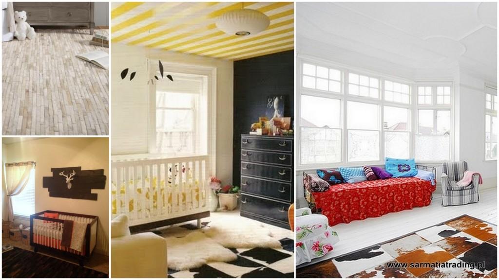patchwork skóra pokój dziecięcy