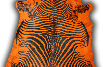 Cow printed zebra dyed orange