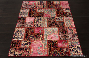 Patchwork-Iran-Blue&Red-170x250cm