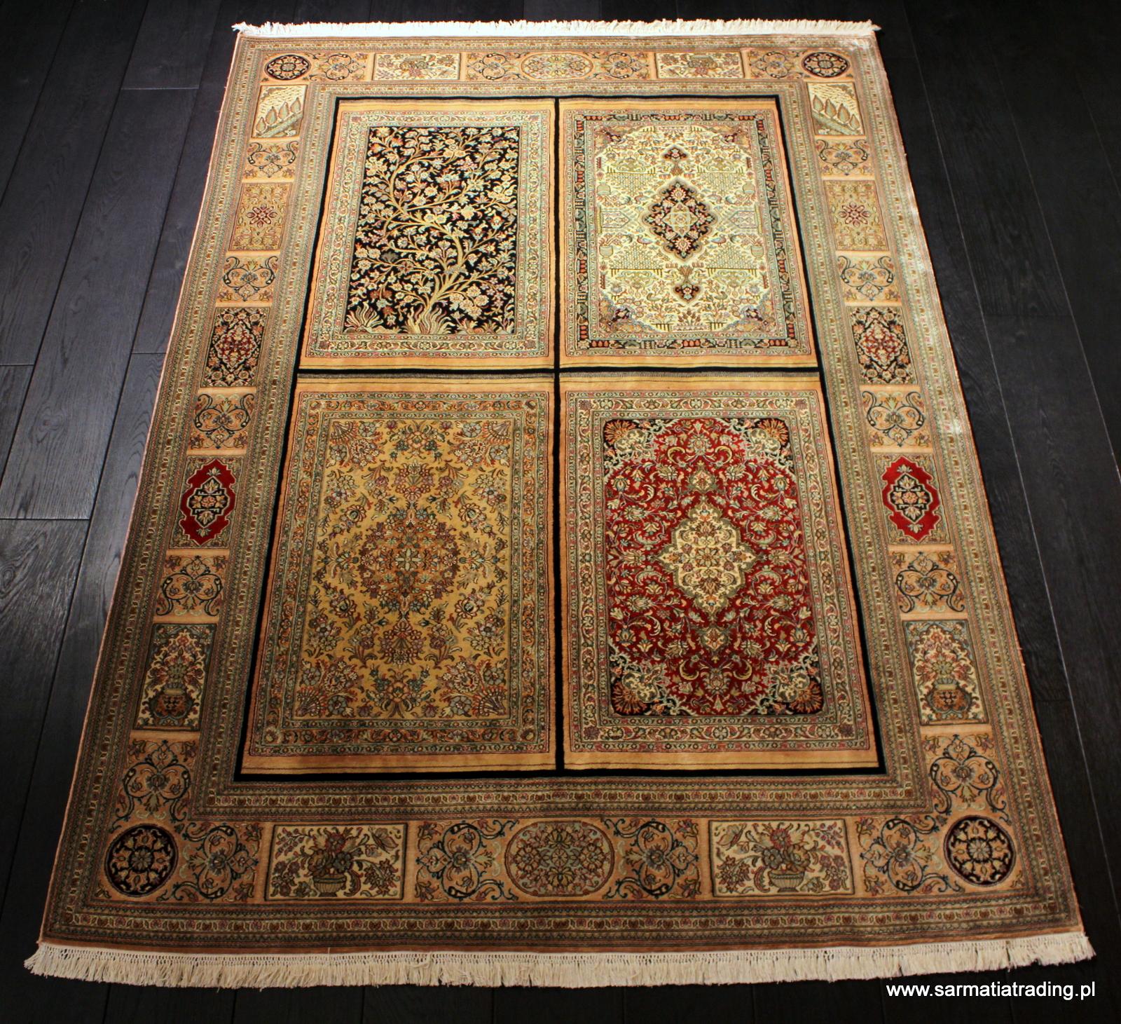 orientalny dywan jedwabny