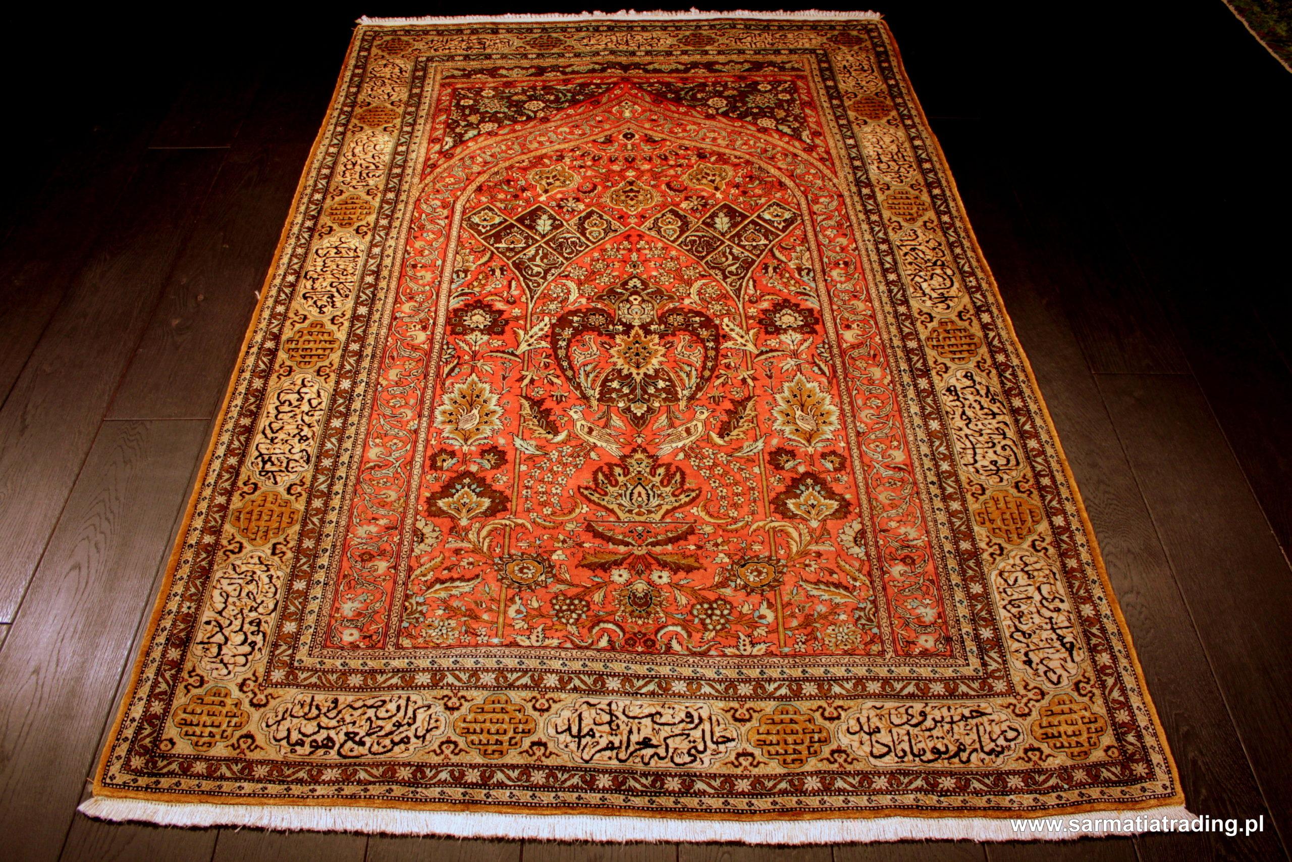 perski dywan jedwabny, antyczny dywan ekskluzywny