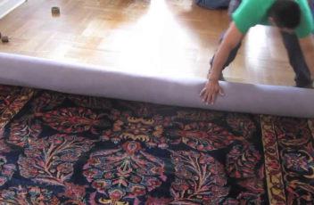 zwijanie dywanu